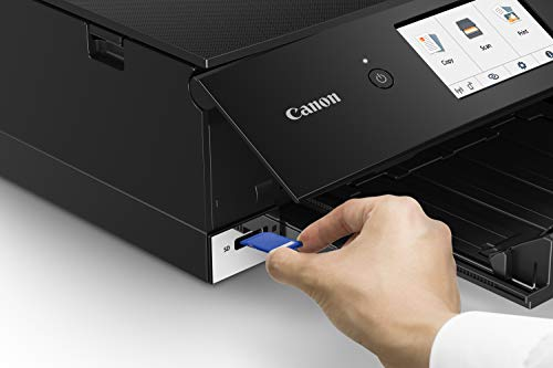 Canon TS8220 Wireless All in One Photo Printer with Scannier and Copier, Mobile Printing, Black by Canon (Image #4)