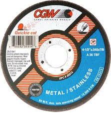 CGW ABRASIVES 4-1/2'' X .045 X 7/8'' CUTOFF WHEEL