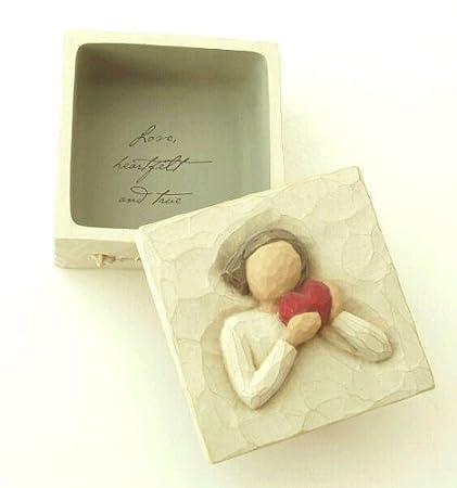 Amazon.com: Willow Tree FROM THE HEART KEEPSAKE BOX 26601 Love ...