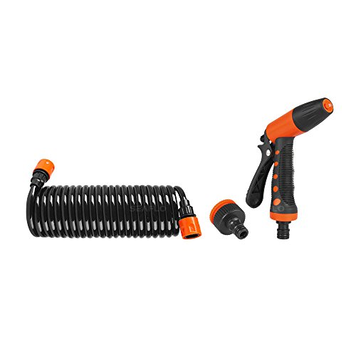 - Seaflo 20' Hosecoil Washdown System for RV, Boat, Garden (Connects to Standard Garden Hose or 1/2