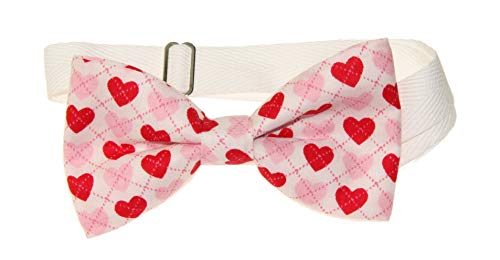 - Men's Red Pink Hearts Pre-Tied Adjustable Cotton Bow Tie Valentine's Day Bowtie