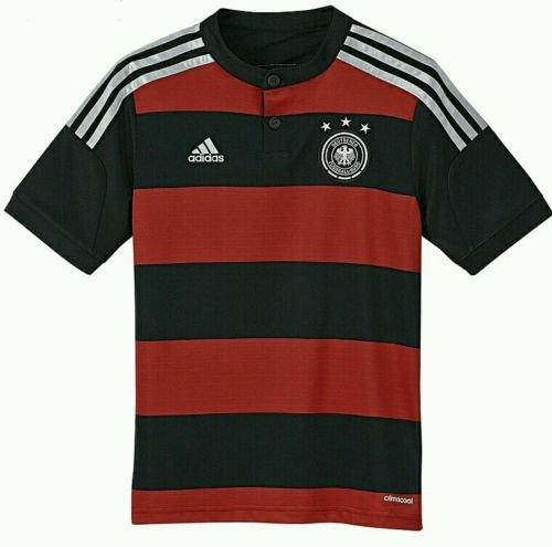 adidas Germany Away Youth Soccer Jersey (XL) Red/Black by adidas