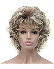 Lydell Short Soft Super Curly Wig Layered Natural Movement Synthetic Women Cosplay Wigs