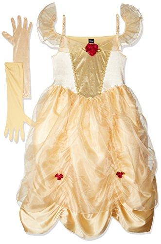 RUBIES ES Women's Princess Belle Fairytale Beauty Outfit L Gold