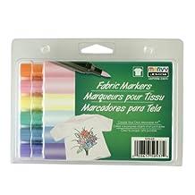 Uchida 530-6B Marvy Brush Tip Pastel Color Fabric Marker Set by UCHIDA