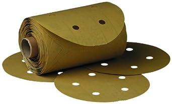 "3M Stikit Gold Paper D/F Disc Roll 216U, PSA Attachment, Aluminum Oxide, 5"" Diameter, P180 Grit (Roll of 175)"