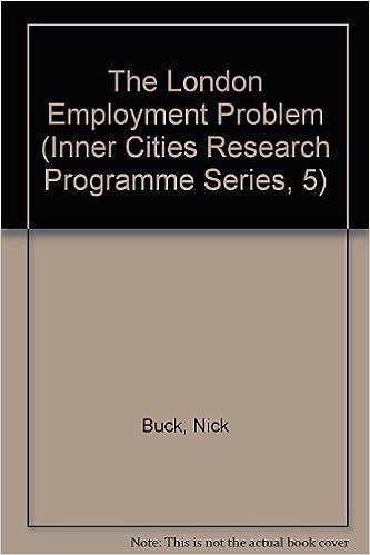 Free google books downloads The London Employment Problem (Inner City In Context Series) (Letteratura italiana) PDF ePub MOBI