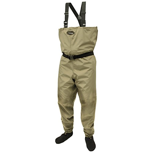 Frogg Toggs Canyon Breathable Stockingfoot Chest Wader, Khaki, Size Medium