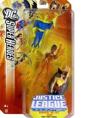 (JUSTICE LEAGUE UNLIMITED DC SUPER HEROES HAWKGIRL/DR. FATE/VIXEN Figures)