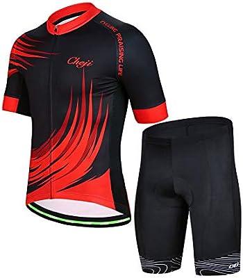 YFCH Maillot de Ciclismo para Hombres Verano Conjunto de Jersey ...