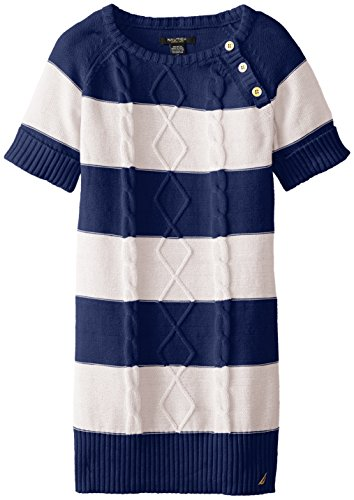 Nautica Girls Striped Cable Buttons