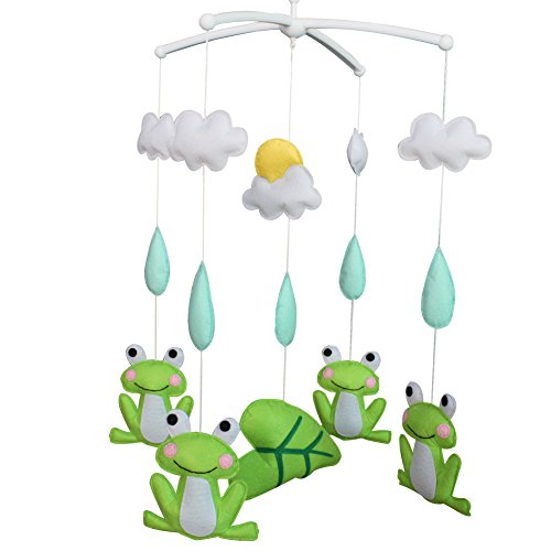 (Adorable Gift, Cute Nursery Room Decoration, Frog Crib Mobile)