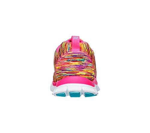 Skechers Sport Dames Pretty Please Flex Appeal Mode Sneaker Whirl Wind / Roze / Multi