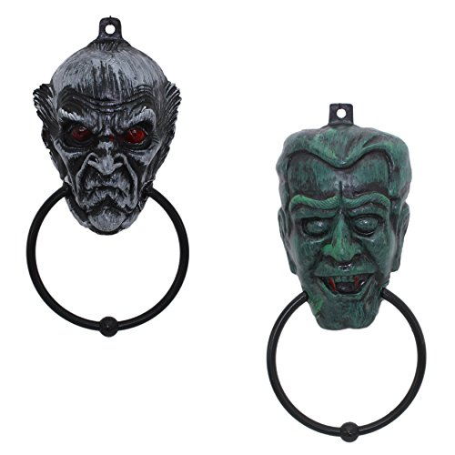 [Set of 2 Plastic Halloween Door Knockers (Vampire)] (Scarry Halloween)