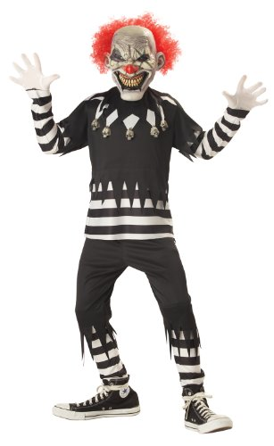 Creepy Clown Boy's Costume, Medium, One (Evil Girl Clown Costumes)