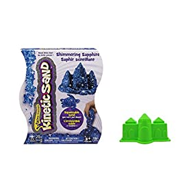 Kinetic Sand, 2lb Shimmering Blue Sapphire With Castle Mold | Frustration Free Packaging (Blue)