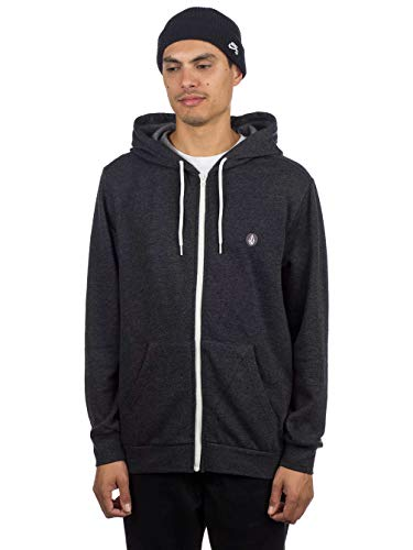 Volcom Veste Black Capuche Zip Heather À Homme Iconic rEHrnTq8