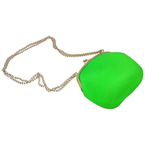 Bolsa De Silicone Vintage Verde Com Dourado Tiracolo (Bl-2662-6)