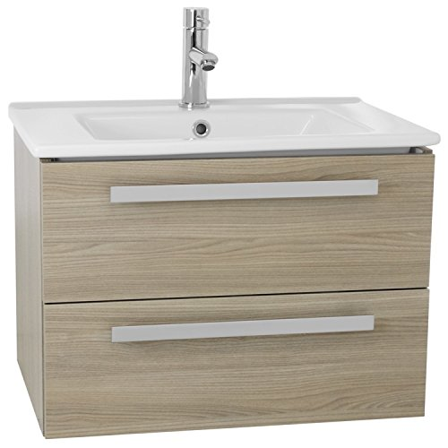 ACF DA24 Dadila Wall Mount Bathroom Vanity Set with 2 Drawers, 25