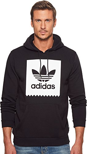 (adidas Originals Men's Solid Bb Hoodie, Black/White, Medium)