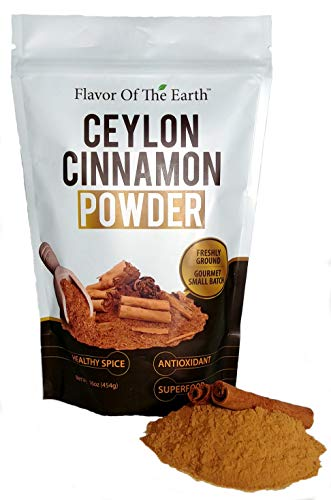 Ceylon Cinnamon Powder Ultra Pure Premium Grade Freshly Ground All Natural Healthy Antioxidant Superfood Dietary Supplement 1 Pound Bulk Spice Pack By Flavor Of The Earth
