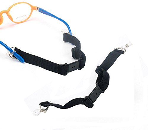 2 Pcs Adjustable Sports Eyeglass Strap with Buckle Adult Kids Sunglasses Cord Eyewear Retainer Eyeglass Elastic Band Holder Lanyard