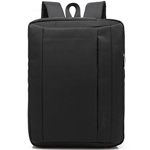 BAIGIO Herren Laptop-Tasche Aktentasche Männer Schultertasche Rucksack Umhängetasche Messenger Bag 15 zoll Computer-Beutel Multifunktions Handtasche,Schwarz