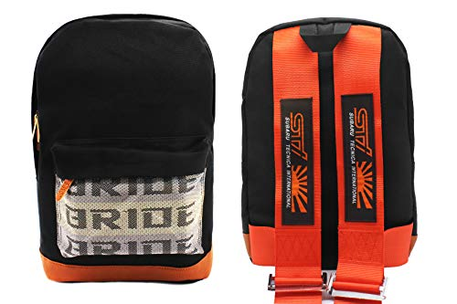 Racing Recaro Harness - New Bride Racing Backpack with RECARO Power Racing Harness Shoulder Straps Red