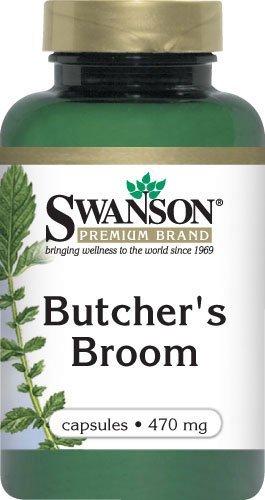 Butcher's Broom Root 470 mg. Caps, 100 ct. (Herbal 100 Caps Singles)