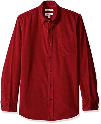 Goodthreads Men's Slim-Fit Long-Sleeve Corduroy Shirt, -red, XX-Large - Corduroy Fine Red