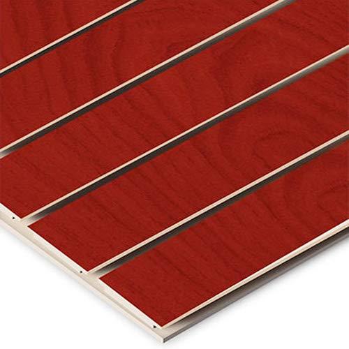 Horizontal Slatwall Panels with Cherry Finish in 4 Feet H x 8 Feet W by Slatwall Panel (Image #2)