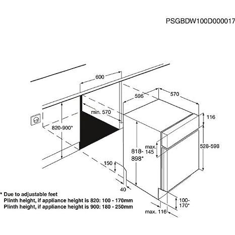 AEG F50012IM0 - Lavavajillas (A +, 1.01 kWh, 12.4 L, 596 mm, 570 ...