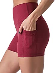 "Sunzel 8"" / 5"" Biker Shorts for Women with Pockets, High Waisted Yoga Work"