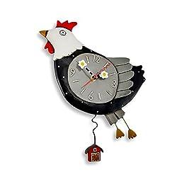 Allen Design Studios Flew The Coop Resin Hen or Chicken Kitchen Wall Clock