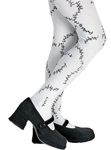 Stitched Child Tights, Black and White, One Size (Christmas Children Costume)