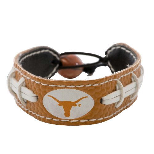 GameWear Texas Longhorns NCAA Team Color Football Leather Bracelet