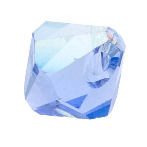 (SWAROVSKI ELEMENTS Crystal #6301 6mm Bicone Pendant Beads Light Sapphire AB (10 Beads))