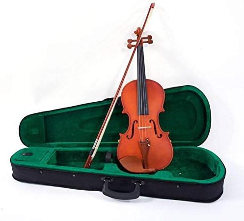 Taimot violín de madera maciza, Glarry 4/4, violín acústico mate con cuerdas, afinador de hombro, kit de violín para principiantes de madera para niños y adultos, incluye funda con lazo y cuerdas