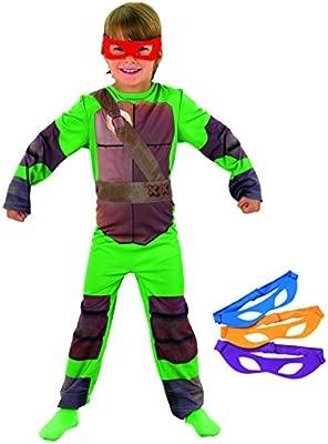 Rubies`s - Disfraz infantil de Tortugas Ninja clásico (886811-M)