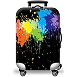 Thickening anti-fall elastic trolley case set polyester material fashion printing pattern luggage suitcase cover…
