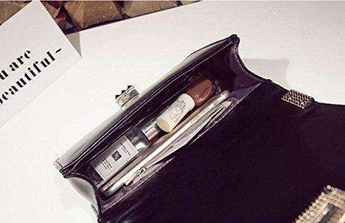 La Tracolla Messaggero Nuove Di Totes A Modo Della Del Borsa Frizione Wenl white Sacchetto Black Borse Popolare dHnYzdx