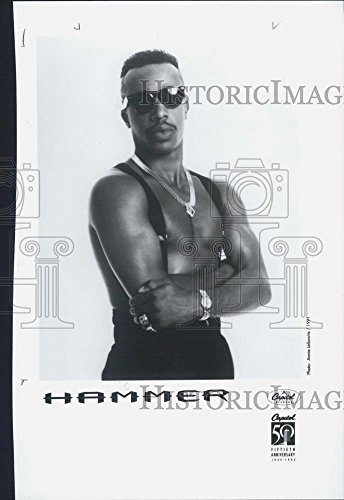 1991 Press Photo American Rapper, Entrepreneur, And Actor M.C. Hammer