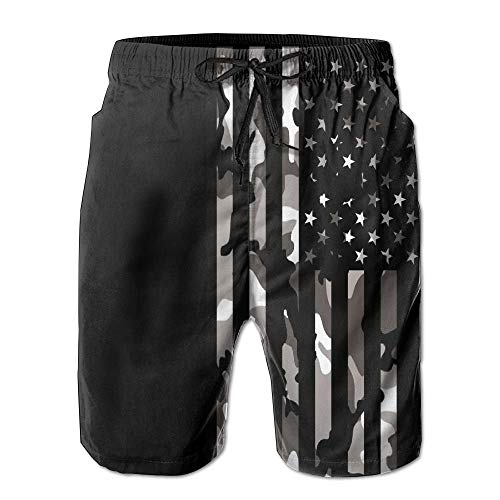 Summer Shorts Beach Lining Flag Man Quick Camo No Dry Mesh American Hqvwfn1
