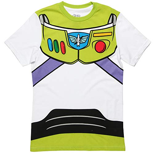 Toy Story Buzz Lightyear Astronaut Costume White Adult T-shirt Tee Small