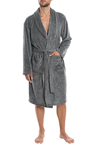 Jual Jachs Men s Plush Robe The Weekender - Sleepwear for Men ... 7de042185