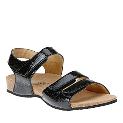 Orthaheel Vionic With Orthaheel Technology Womens Valencia Sandal Black Snake Size 5