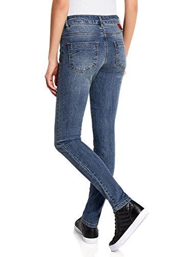 Azul Slim Fit Mujer Ultra Vaqueros 7500w Básicos oodji qTtYUPt