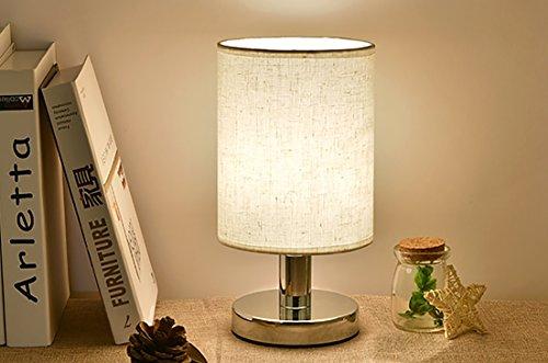 Agnes Lighting Metal Base Flax PVC Shade Table Lamp, D5.52