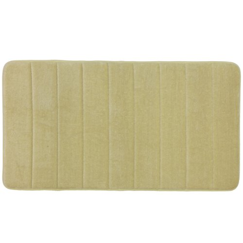 Mohawk Home Luxurious 19-1/2-Inch by 36-Inch Memory Foam Bath Rug, Butter Pecan (Memory Walmart Foam Rug Bath)