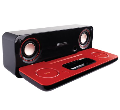 Sharp i-Elegance Music System for iPod and MP3 Players (High Gloss Red/Black) by Sharp (Image #3)